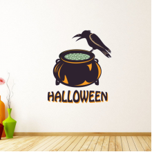 Halloween Witch's Poison Cylinder Wall Sticker