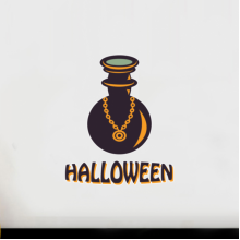 Halloween Witch's Poison Bottle Wall Sticker