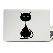 Halloween Couchant Black Cat Laptop Skin Sticker