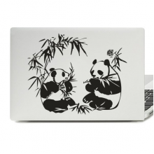 Panda And Bamboo Laptop Skin Sticker