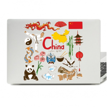 China Illustration Laptop Skin Sticker