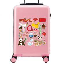 China Illustration Suitcase Sticker