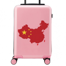 China Flag Map Suitcase Sticker