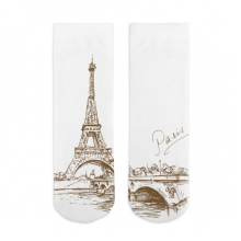 Eiffel Tower Sketch Cotton Socks