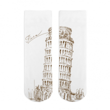 The Leaning Tower of Pisa Sketch Cotton Socks