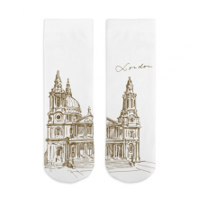 St.Paul's Cathedral Sketch Cotton Socks