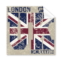 London King UK England Landmark Flag Mark Illustration Pattern Glasses Cloth Cleaning Cloth Phone Screen Cleaner 5pcs