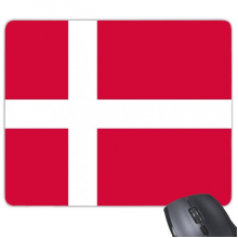 Denmark National Flag Europe Country Symbol Mark Pattern Rectangle Non-Slip Rubber Mousepad Game Mouse Pad