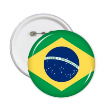 Brazil National Flag South America Country Symbol Mark Pattern Round Pin Badge Button 5pcs