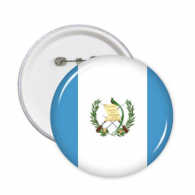 Guatemala National Flag North America Country Symbol Mark Pattern Round Pin Badge Button 5pcs