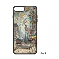 Winter Night Light Street Colorpainting Paninting Landscape Charming Scenery Sights Illustration Pattern iPhone 7/7 Plus Cases iPhonecase  iPhone Cover