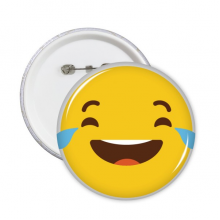 Laugh Cry Yellow Cute Lovely Online Chat Emoji Illustration Pattern Round Pin Badge Button 5pcs