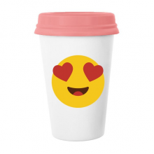 Adore Fever Love Yellow Cute Lovely Online Chat Emoji Illustration Pattern Classic Mug White Pottery Ceramic Cup Milk Coffee Cup 350 ml