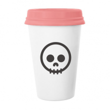 Circle Black Skeleton Cute Lovely Online Expression Chat Emoji Pattern Classic Mug White Pottery Ceramic Cup Milk Coffee Cup 350 ml