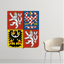 Czech National Emblem Country Symbol Mark Pattern Removable Wall Sticker Art Decals Mural DIY Wallpaper for Room Decal