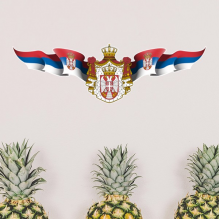 Serbia National Emblem Country Symbol Mark Pattern Removable Wall Sticker Art Decals Mural DIY Wallpaper for Room Decal