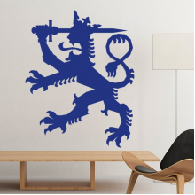 Finland National Emblem Country Symbol Mark Pattern Removable Wall Sticker Art Decals Mural DIY Wallpaper for Room Decal