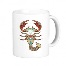Sign Scorpio Constellation Zodiac Symbol Mark Illustration Pattern Classic Mug White Pottery Ceramic Cup Milk Coffee With Handles 350 ml
