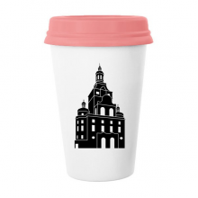 Germany Famous Building Landmark Architecture Silhouette Illustration Pattern Classic Mug White Pottery Ceramic Cup Milk Coffee Cup 350 ml