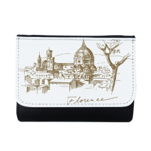 Florence Cathedral Italy Florence Landmark Pattern Multi-Function Faux Leather Wallet Card Purse