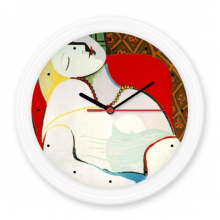 Picasso Oil Painting  Pablo Picasso Famous Oil Schools of Abstractionism Panintings Oils Silent Non-ticking Round Wall Decorative Clock Home Decal