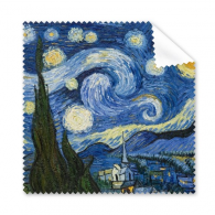 Starry sky Vincent Willem van Gogh Famous Oil Schools of  Impressionist  Panintings Oils Glasses Cloth Cleaning Cloth Phone Screen Cleaner 5pcs