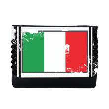Italy National Flag Europe Country Symbol Mark  Illustration Pattern Multi-Function Faux Leather Wallet Card Purse