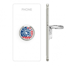 America Flag Liberty Statue Pattern Metal Rotation Ring Stand Holder Bracket for Smartphones Cell Phone Support Accessories