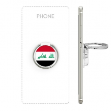 Iraq National Flag Asia Country Symbol Mark Pattern Metal Rotation Ring Stand Holder Bracket for Smartphones Cell Phone Support Accessories