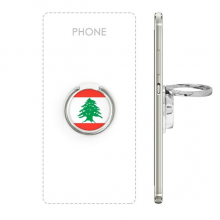 Lebanon National Flag Asia Country Symbol Mark Pattern Metal Rotation Ring Stand Holder Bracket for Smartphones Cell Phone Support Accessories