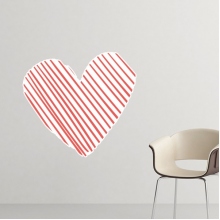 Celebrate Valentine's Day Heart Shaped Red Sparse lines sketch Illustration Pattern Removable Wall Sticker Art Decals Mural DIY Wallpaper for Room Decal