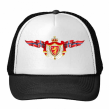 Norway National Emblem Country Symbol Mark Pattern Trucker Hat Baseball Cap Nylon Mesh Hat Cool Children Hat Adjustable Cap