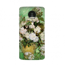 White rose Vincent Willem van Gogh famous oil paintings impressionist school Motorola Moto Z / Z Force / Z2 Force Droid Magnetic Mods Phonecase Style Mod