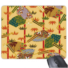 Japan Culture Japanese Style Art Fan Leaves Ukiyo-e Repeat Illustration Pattern Rectangle Non-Slip Rubber Mousepad Game Mouse Pad