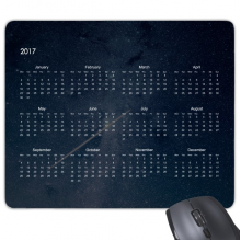 2017 Calendar New Year Kalendar Starry Sky Rectangle Non-Slip Rubber Mousepad Game Mouse Pad