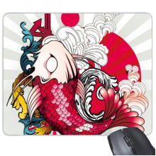 Japan Culture Japanese Style Carp Waves National Flag Totem Art Radiate Illustration Pattern Rectangle Non-Slip Rubber Mousepad Game Mouse Pad