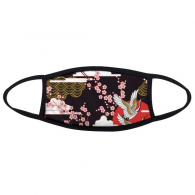 Japan Culture Japanese Style Cranes Fuji Sakura Cloud Sun Repeat Illustration Pattern Face Anti-dust Mask Anti Cold Maske