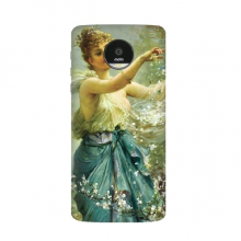 Religion Christianity World Famous Landmark Classical Oil Painting Girl With Flower Art Design Illustration Pattern Motorola Moto Z / Z Force / Z2 Force Droid Magnetic Mods Phonecase Style Mod