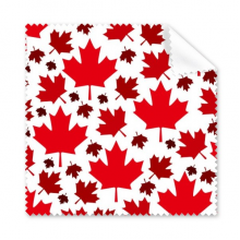 Canada Flavor Maple Leaves and Canadian Maple Flag Bright Red and Dark Red Pattern Glasses Cloth Cleaning Cloth Phone Screen Cleaner 5pcs
