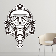 India Flavor Hinduism Religion Figure Pattern Sketch Removable Wall Sticker Art Decals Mural DIY Wallpaper for Room Decal