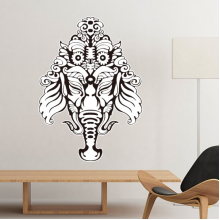 India Flavor Hinduism Religion God Figure Pattern Sketch Removable Wall Sticker Art Decals Mural DIY Wallpaper for Room Decal
