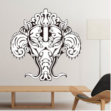 India Flavor Hinduism Religion God Figure Sketch Removable Wall Sticker Art Decals Mural DIY Wallpaper for Room Decal