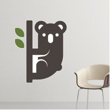 Australia Flavor Koala and Eucalypt Silhouette Illustration Removable Wall Sticker Art Decals Mural DIY Wallpaper for Room Decal