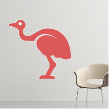 Australia Flavor Emu Retro Style Red Illustration Removable Wall Sticker Art Decals Mural DIY Wallpaper for Room Decal