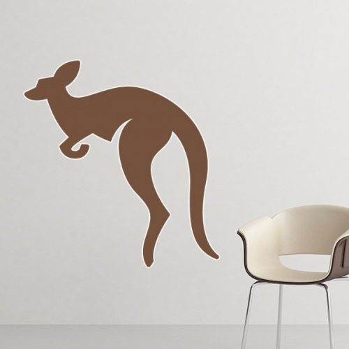 Australia Flavor Kangaroo Brown Silhouette Illustration Removable Wall Sticker Art Decals Mural DIY Wallpaper for Room Decal