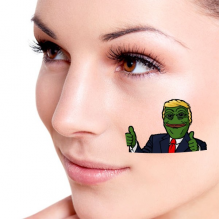 America American President Sad Frog Trump Funny Let's Make America Great Again Ridiculous Spoof Meme Image Temporary Tattoos Waterproof Tattoo Party Use Facial Decoration