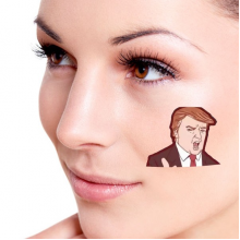 America American President Domineering Trump Funny Interesting Angry President You Are Fired Ridiculous Spoof Cartoon Image Temporary Tattoos Waterproof Tattoo Party Use Facial Decoration