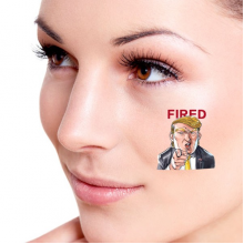 American President Trump Funny Interesting Angry President You Are Fired Ridiculous Spoof Cartoon Image Temporary Tattoos Waterproof Tattoo Party Use Facial Decoration