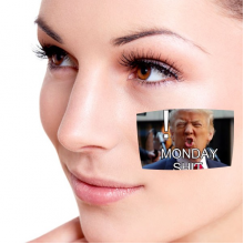 America American President Trump Funny Shit Monday Ridiculous Angry White-collar Worker Meme Image Temporary Tattoos Waterproof Tattoo Party Use Facial Decoration