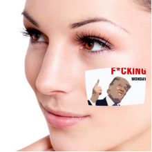 American President Trump Funny Fxxking Monday Interest Ridiculous Spoof Angry White-collar Worker Meme Image Temporary Tattoos Waterproof Tattoo Party Use Facial Decoration